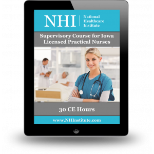 Supervisory Course for Iowa's Licensed Practical Nurses